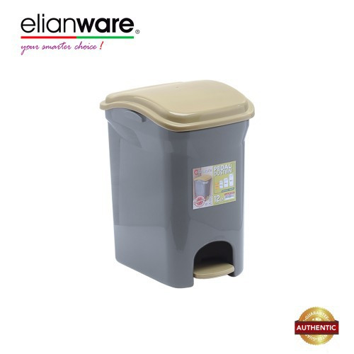 image of Elianware 12 Ltr BPA Free Antibacteria Antifungal Pedal Dustbin with Trashbag Holder