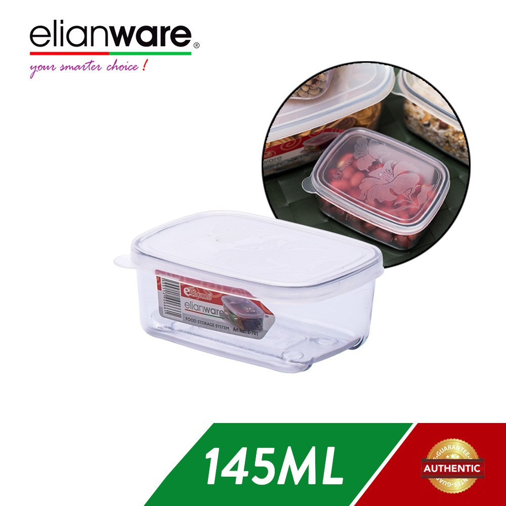 image of Elianware 145ml Transparent Airtight Food Keeper