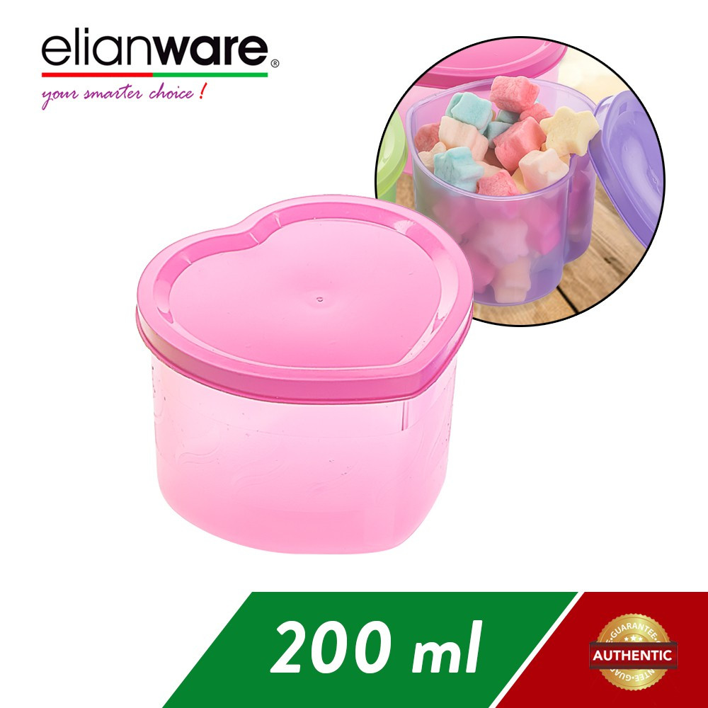 image of Elianware Heart Shape Multipurpose Container Multicolor BPA FREE