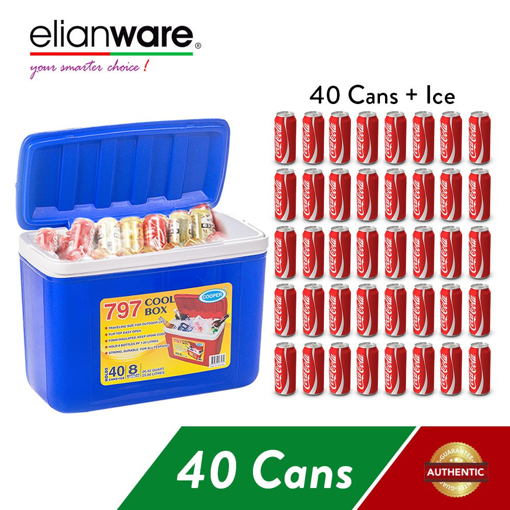 image of Elianware 25Ltr Outdoor Camping Party Portable Ice Cooler Box