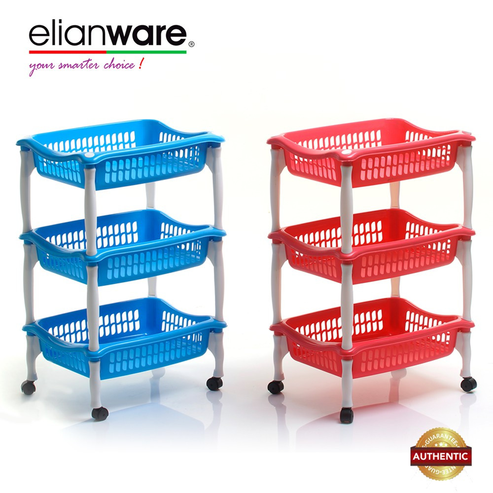 image of Elianware Hot Selling 3 Tier Multipurpose Rack Kitchen Bathroom Office Rack