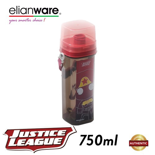 image of Elianware DC Justice League 750ml BPA Free Water Tumbler with Handle