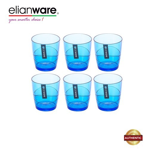 image of Elianware 220ml x 6 Pcs BPA Free Colourful Modern Drinking Cup Set