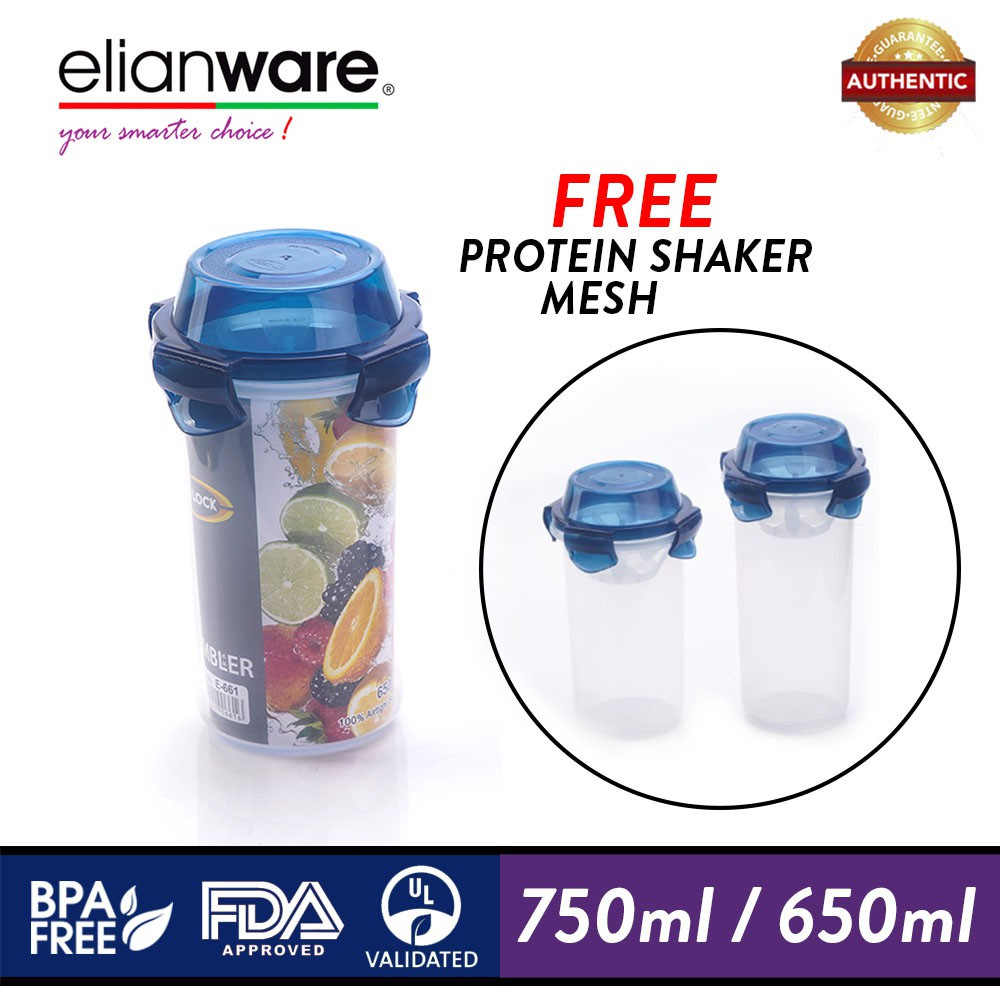 image of Elianware Ezy-Lock Airtight [BPA Free] Tumbler Water Bottle Shaker Container