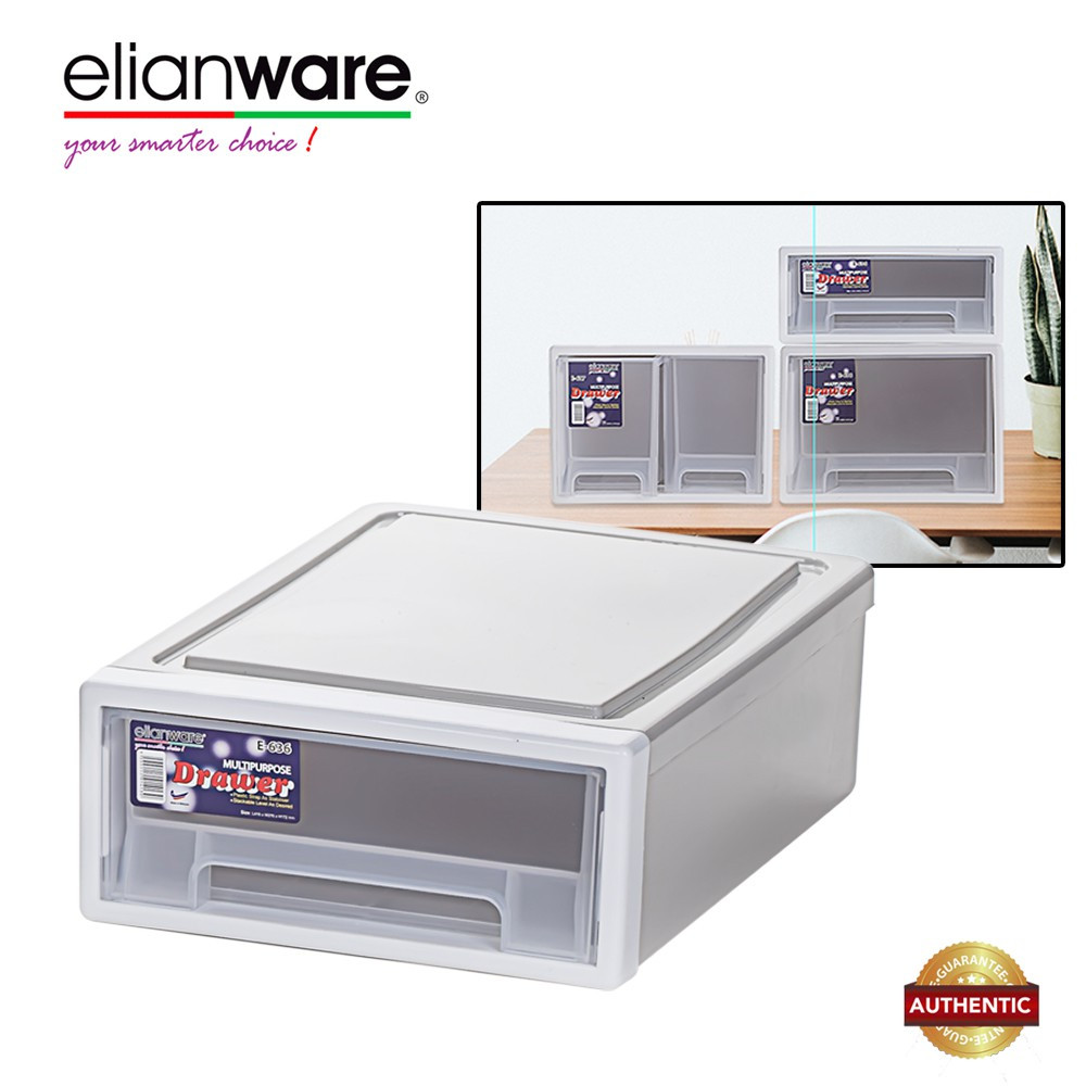 image of Elianware H115mm Elegant Modern Office Drawer Storage Box