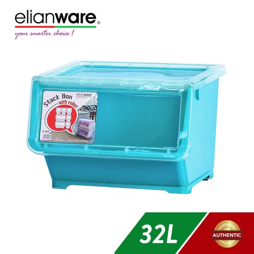 image of Elianware 32 Ltr Stack Box With Roller