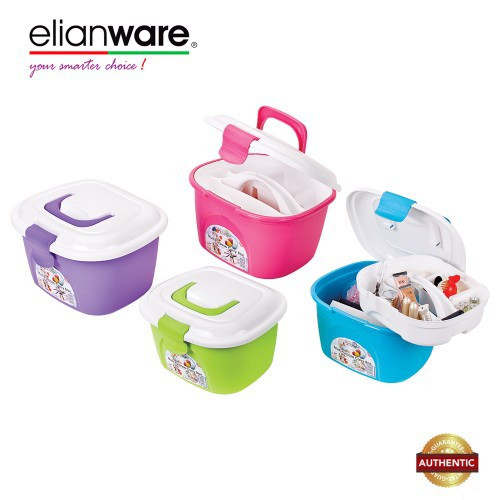 image of Elianware 10 Ltr Multipurpose Cosmetics Toys Accessories Tools Box Keeper