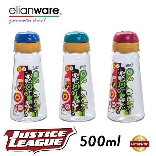 image of Elianware DC Justice League 500ml BPA Free Small Mouth Water Tumbler