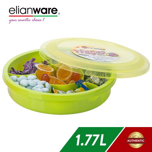 image of Elianware 1170ml BPA FREE Candy Tray (6 Compartments)