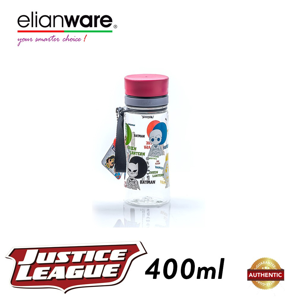 Elianware DC Justice League 400ml BPA Free Transparent Water Tumbler