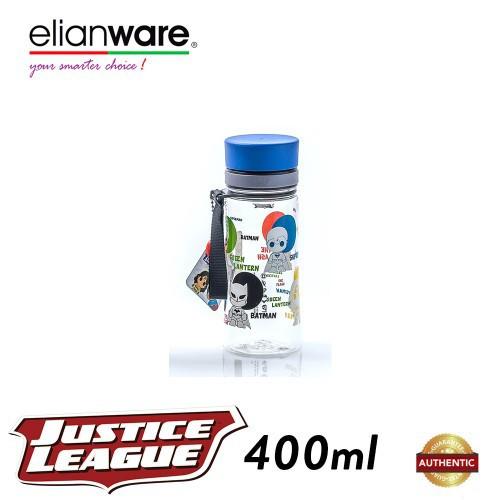 image of Elianware DC Justice League 400ml BPA Free Transparent Water Tumbler