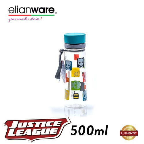 image of Elianware DC Justice League 500ml BPA Free Transparent Water Tumbler