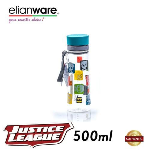 image of Elianware DC Justice League 500ml BPA Free Transparent Water Tumbler