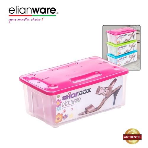 Elianware Stackable Transparent Plastic Shoe Box Men and Women Shoes Storage Box