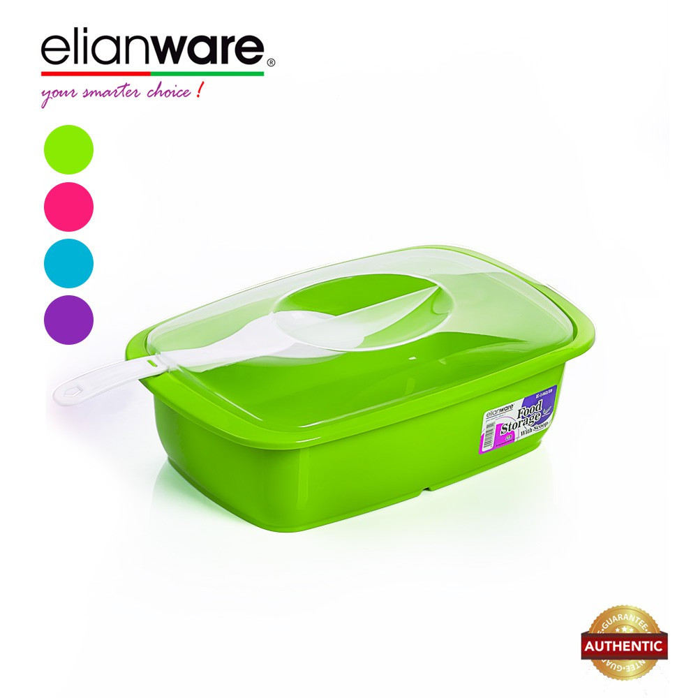 image of Elianware 2.6 Ltr Transparent Cover Food Serving Bowl with Scoop