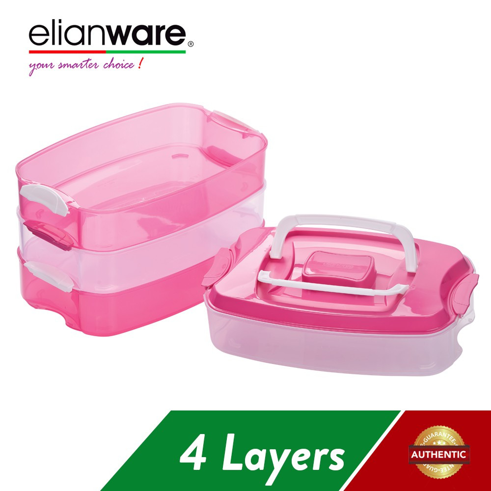 image of Elianware 4 Layer Food Keeper Airtight Container BPA Free (10L)