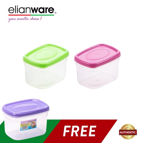 image of Elianware (BUY 2 FREE 1) 660ml BPA FREE Multipurpose Food Keeper
