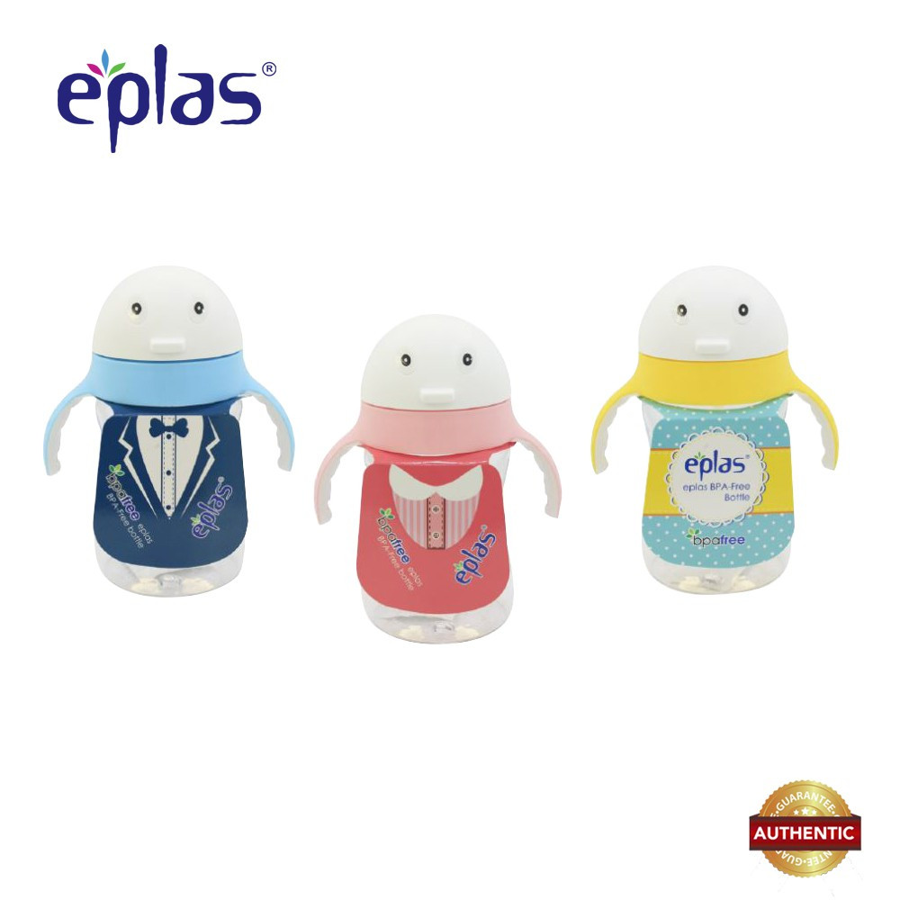 image of Eplas 320ml BPA Free Cute Penguin Kid's Bottle With Straw