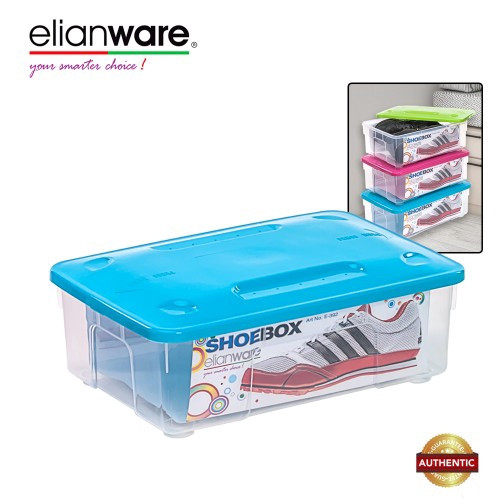 image of Elianware Stackable Transparent Plastic Shoes Storage Box