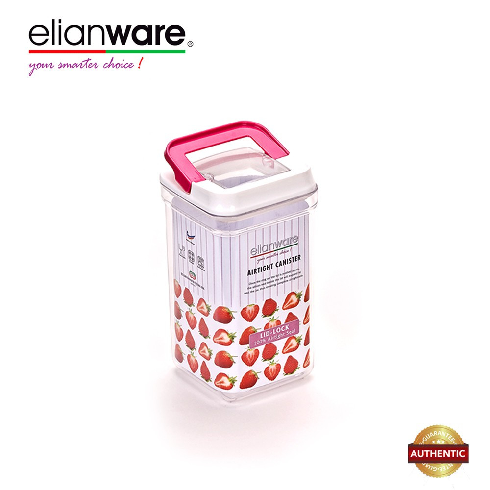 image of Elianware 2150ml Elegant Glass-Like Airtight Canister Clear Container Multipurpose Food Storage Keeper Box