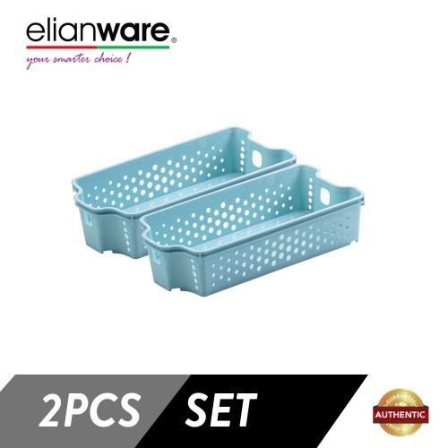 image of Elianware 2 Pcs Clean & Simple Stackable Basket (M1)