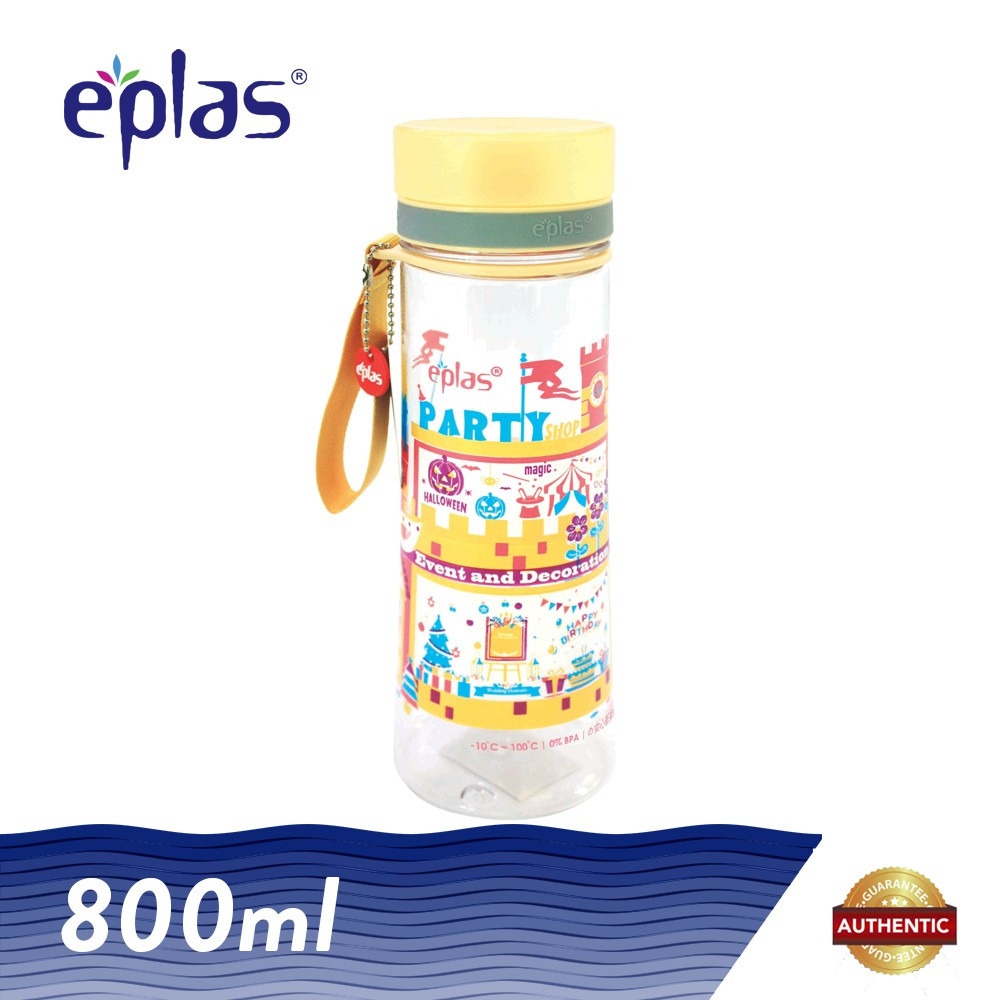 image of Eplas 800ml Party Shop BPA Free Transparent Water Tumbler