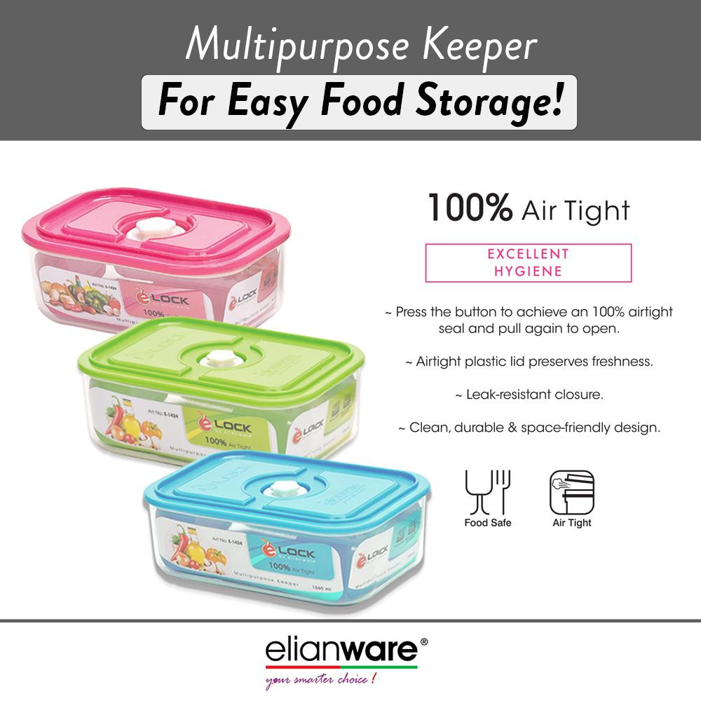 image of Elianware 100% Airtight Transparent Glass-like Food Storage Containers