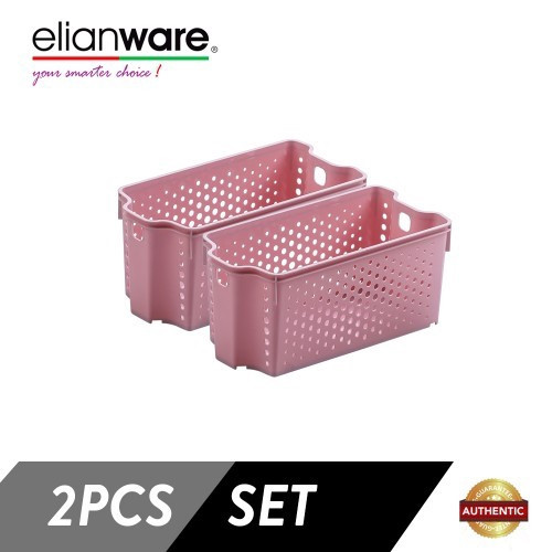 Elianware 2 Pcs Clean & Simple Stackable Basket (M2)