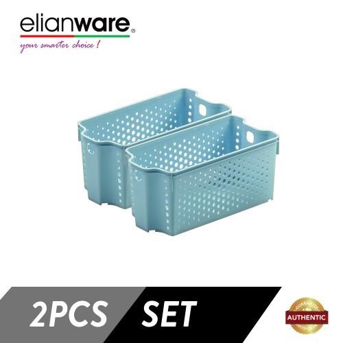 image of  Elianware 2 Pcs Clean & Simple Stackable Basket (M2)