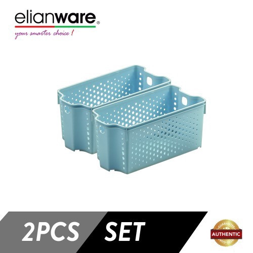 image of Elianware 2 Pcs Clean & Simple Stackable Basket (M2)