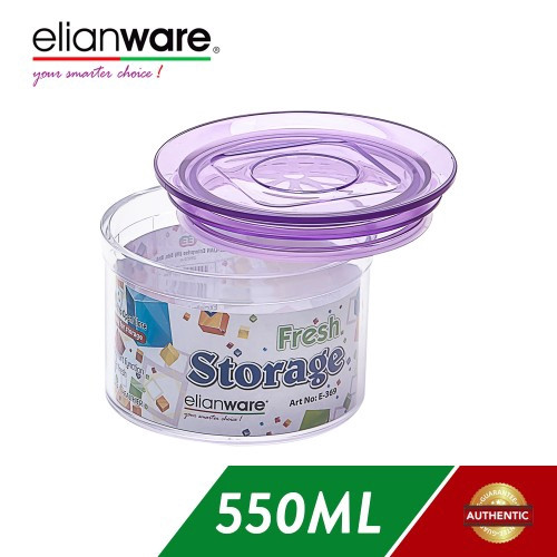 image of Elianware 550ML Airtight Glass Like Fresh Storage Round Container