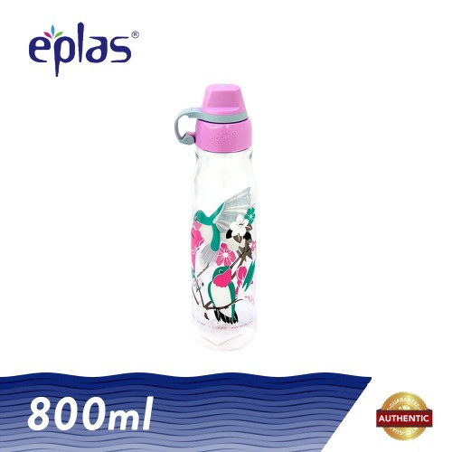 image of Eplas 800ml BPA Free Animal Kingdom Transparent Drinking Bottle with Lid