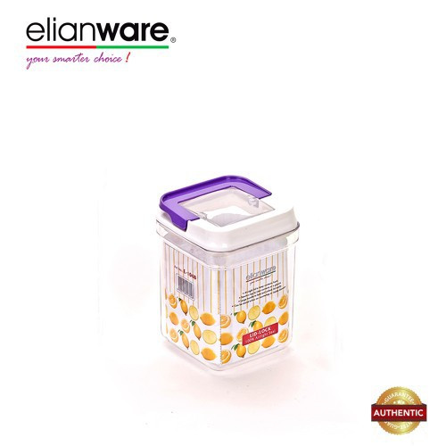 image of Elianware 1500ml Elegant Glass-Like Airtight Canister Clear Container Multipurpose Food Storage Keeper Box