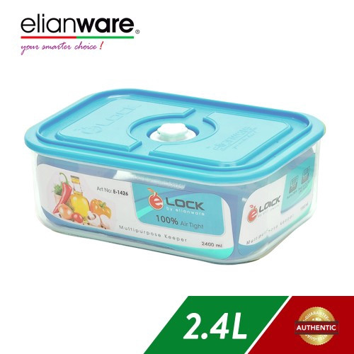 image of Elianware 2.4Ltr Airtight Glass Like Multipurpose Keeper x 1 Pcs