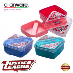 Elianware DC Justice League 2 Layer 1.35L Food Container with Spoon & Fork