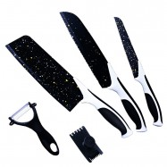 image of Set Of 5 Stainless Steel Kitchen Knife Set Cutter Tools