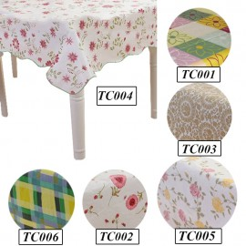 image of Waterproof Rectangle Shape Dining Table Cloth (137cm x 183cm)