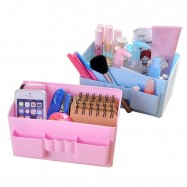 image of Plastic Cosmetic Organizer Case Makeup Storage Box