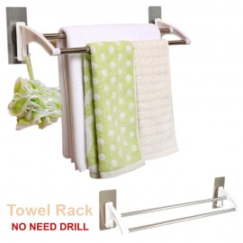 image of TH005 Stick-Wall Foldable Bathroom Hanger Rack