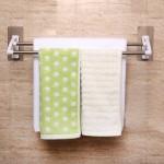 TH005 Stick-Wall Foldable Bathroom Hanger Rack