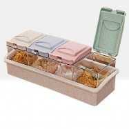 image of RA-7570 Japanese Style New Generation 4 Slots Seasoning Storage Box