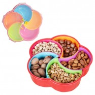 image of 5 Slots Big Capactiy Food Trays & Candy Container With Lid