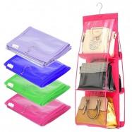 image of Borong Best ! 6 Slots Big Capacity Dust Proof Handbag Rack Organizer