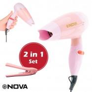 image of NOVA 2 in 1 Set N-662 Professional Hair Dryer 1000W