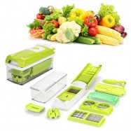 image of Easy to use 12pcs Practical Vegetable ABS Chopper Nicer Cutter Slicer Set