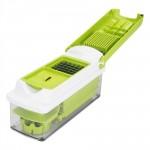 Easy to use 12pcs Practical Vegetable ABS Chopper Nicer Cutter Slicer Set