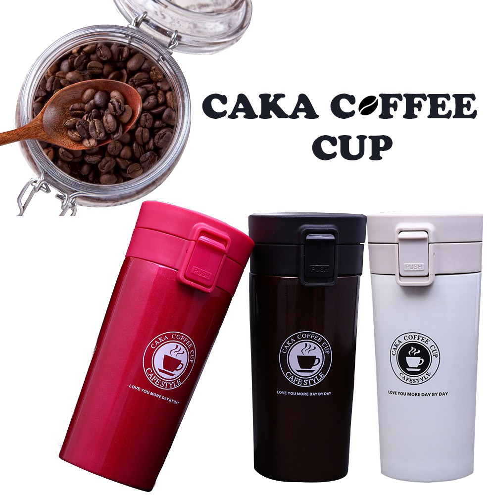 CAKA 380ml Stainless Steel Vacuum Flask Coffee bottle Cup