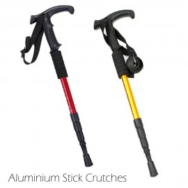 image of BBD01 Adjustable Aluminium Stick Crutches Hiking Walking Travel