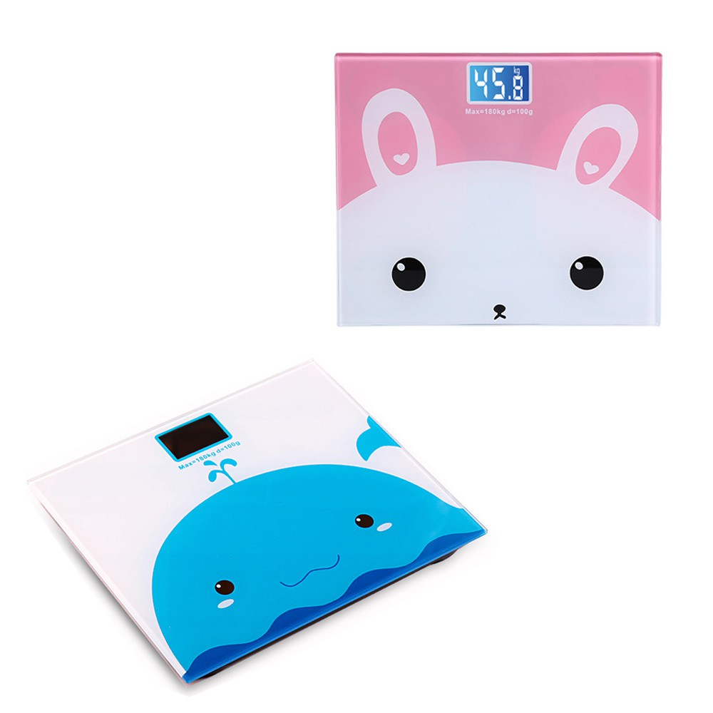 Mini Cute Cartoon electronic body scale tempered Glass