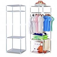 image of 0104 Stainless Steel Multipurpose Cloth Organizer Rack